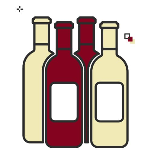 A mix of wines