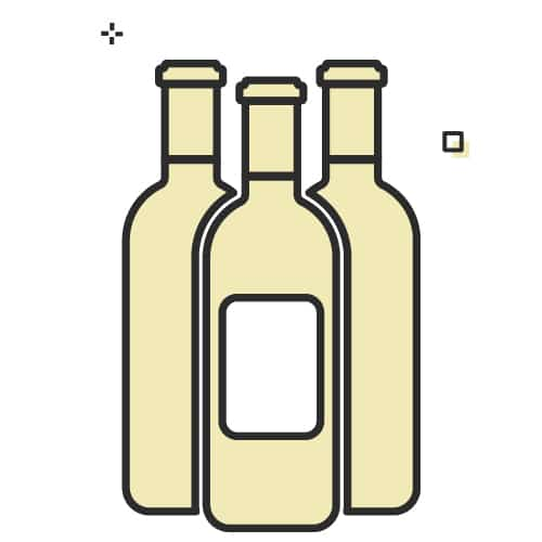Thee bottles of wine
