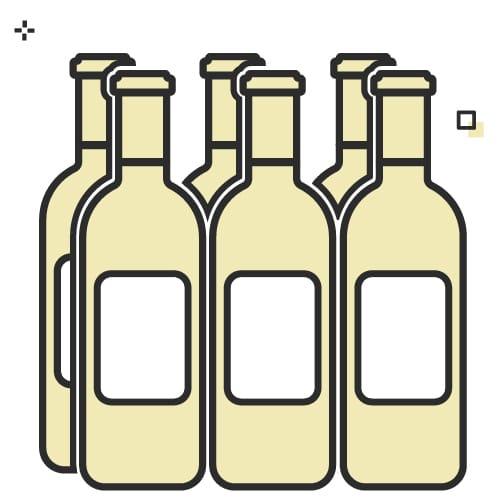Six bottles of wine